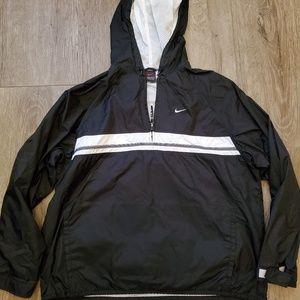 Nike Windbreaker Jacket! 1/4 zip swoosh on front!